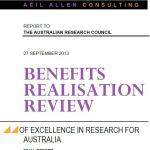 Excellence in Research for Australia—Benefits Realisation Review cover graphic