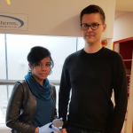 PhD researcher Nitu Syed and Dr Torben Daeneke in the lab.