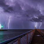 picture of a storm over the sea