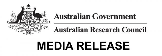 Black and white Australian Research Council Logo for Media Release