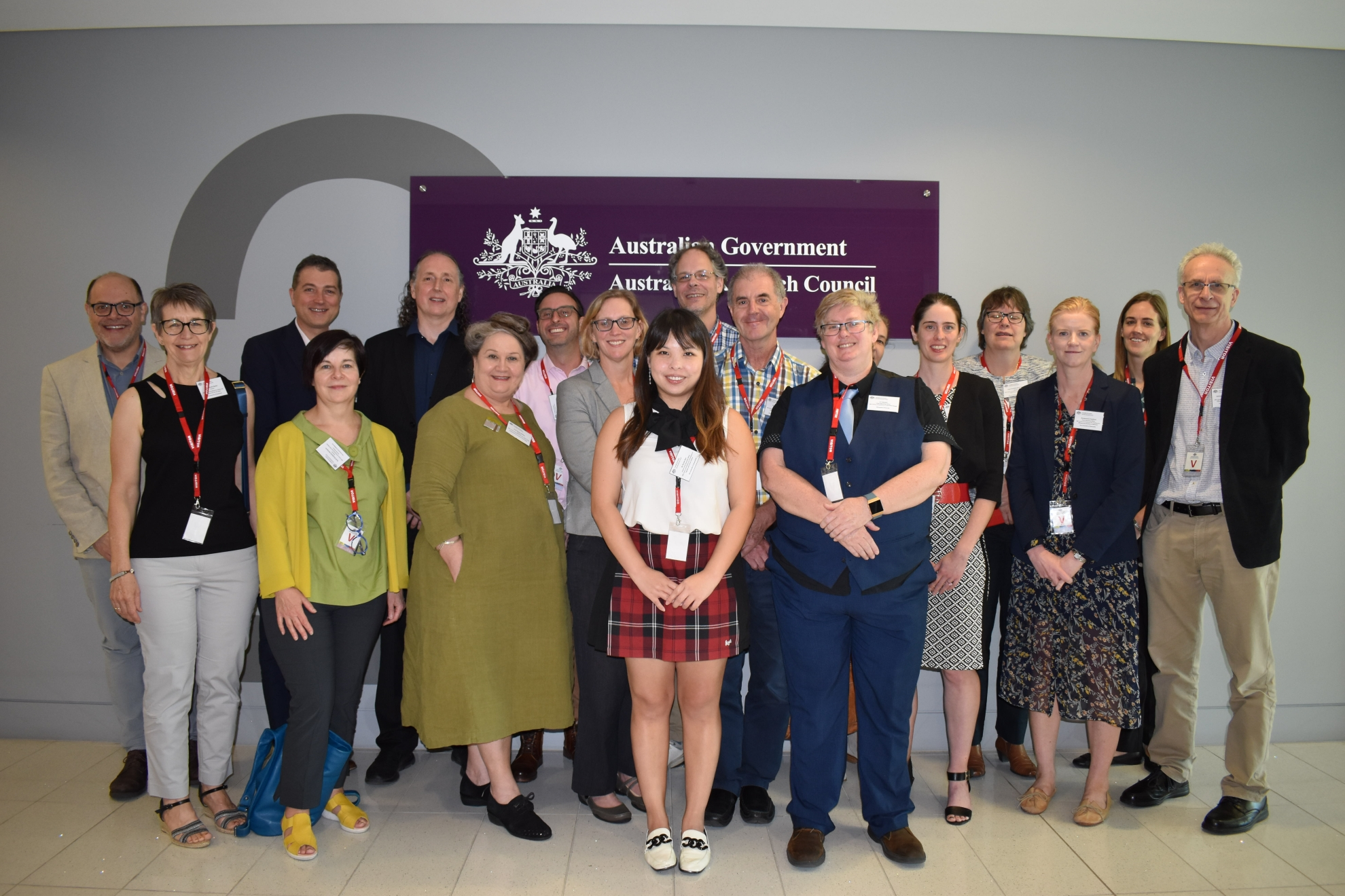 Attendees at the 2019 ARC Centres of Excellence induction day